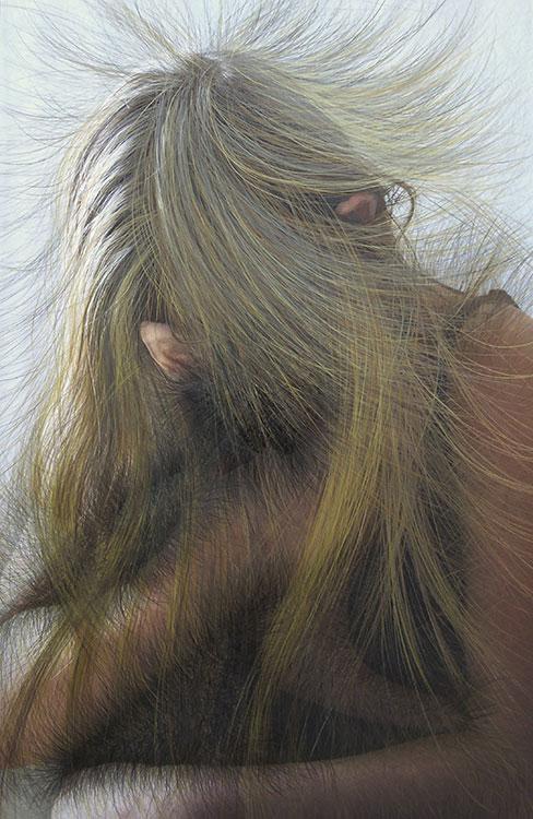 Goudlokje, photodrawing, 90 x 65 cm